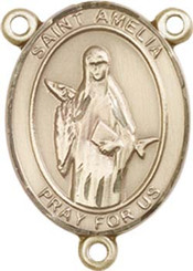 "St. Amelia - .75"" Oval - Gold Filled Centerpiece"
