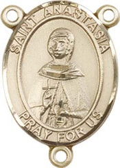 "St. Anastasia - .75"" Oval - Gold Filled Centerpiece"
