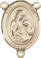 "St. Ann - .75"" Oval - Gold Filled Centerpiece"