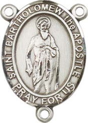 "St. Basil the Great - .75"" Oval - Sterling Silver Centerpiece"