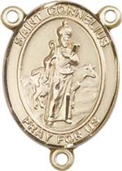 "St. Cornelius - .75"" Oval - Gold Filled Centerpiece"