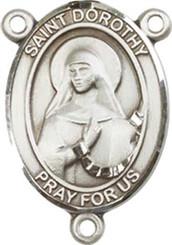 "St. Dorothy - .75"" Oval - Sterling Silver Centerpiece"