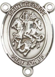 "St. George  - .75"" Oval - Sterling Silver Centerpiece"