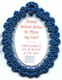 divine infant jesus badge blue back