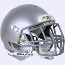 Adult Football Rawlings NRG Impulse Silver Metallic Helmet With Facemask