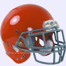 Adult Football Rawlings NRG Impulse Orange Helmet With Facemask