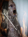 Deluxe Mega Corpse Zombie Monster Mask with Long Hair
