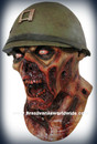 Captain Leister Police Zombie Latex Mask Mascara Zumbi Policial Capitao
