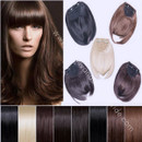 Fashion Clip in Hairpiece Natural Look Fringe Franja Hair Extensions Bangs