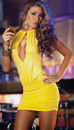 Sexy Clubwear Dance Party Mini Club Dress Yellow or Black Vestido