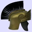 Adult Roman Helmet Gold With Black Brush Capacete Romano