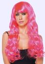 Starbright Neon Pink Synthetic Party Wig Festas Peruca Cabelo Sintetico