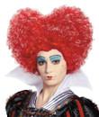 Red Queen Wig Alice in Wonderl Peruca Rainha Vermelha
