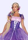 Licensed Disney Long Blonde Rapunzel Tangled Adult Wig Peruca Longa