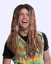 Men's Rasta Dreadlocks Wig Blonde-Brown Peruca Rastafari