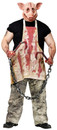 Halloween Adult Horror Costume Butcher Pig Fantasia Porco