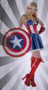 Captain American Dream Womens Adult Sassy Costume