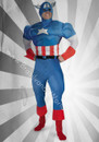 The Avengers Captain America Adult Costume Muscle