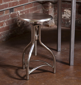 Silver chrome stool, Adjustable metal stool,modern stool,metal stool