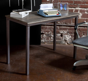 Handcrafted desk made in the USA, steel desk, artisan made desk