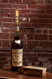 Vintage Hennessy Bottle Lamp