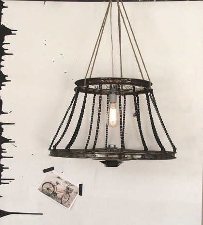 Bicycle chandelier,bike light,recycled bicycle lighting