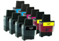 Brother LC-41 (LC41) Ink Cartridge 10PK - 4 Black, 2 Cyan, 2 Magenta, 2 Yellow (Compatible)