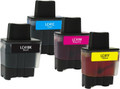 Brother LC-41 (LC41) Ink Cartridge 4PK - Black, Cyan, Magenta, Yellow (Compatible)