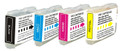 Brother LC-51 (LC51) Ink Cartridge 4PK - Black, Cyan, Magenta, Yellow (Compatible)