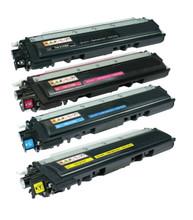 Brother TN210 Laser Toner Cartridge 4PK - Black, Cyan, Magenta, Yellow (Compatible)
