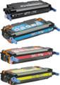 Canon 117 Laser Toner Cartridge 4PK - Black, Cyan, Magenta, Yellow (Remanufactured)