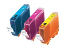 Canon BCI-3/3e Ink Cartridge 3PK - Cyan, Magenta, Yellow (Compatible)