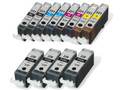 Canon Ink Cartridge 12PK - 4 PGI220 & CLI221 - 2 Black, 2 Cyan, 2 Magenta, 2 Yellow (Compatible)