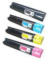 Dell 5130 (5120/5140) Laser Toner Cartridge 4PK - Black, Cyan, Magenta, Yellow (Remanufactured)
