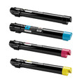 Dell 7130 High Yield Laser Toner Cartridge 4PK - Black, Cyan, Magenta, Yellow (Remanufactured)