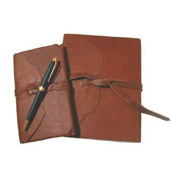 Timeless Elegance Sustainable Leather Agenda Set