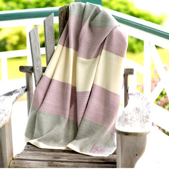 Organic Merino Wool Throws Color Blocks - Various Colors