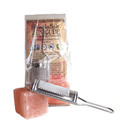 Pink Himalayan Salt Cube and Grater Set