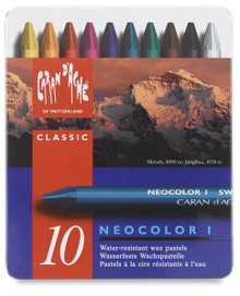 Caran d'Ache Neocolor I Wax Pastels 10pc