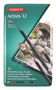 Derwent Artists Pencils Tin of 12