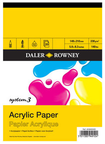 Daler Rowney System 3 Acrylic Pads (230G/M²) - 20 Sheets