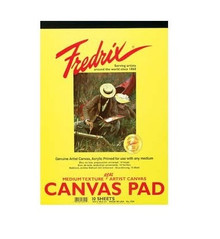 Fredrix Canvas Pads (10 Sheets)