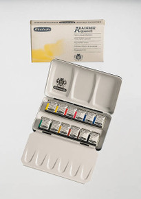 SCHMINCKE AKADEMIE WATERCOLOUR PAINTS -12 HALF PAN COMPACT SET