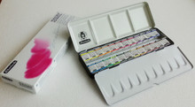 SCHMINCKE - HORADAM FINEST WATERCOLOUR PAINTS - 24 HALF PAN - LARGE METAL SET