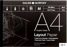 Daler Rowney A4 Layout Paper Pad -45gsm