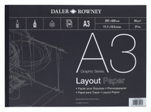 Daler Rowney A3 Layout Paper Pad -45gsm