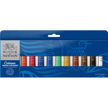 COTMAN WATER COLOURS 12 TUBE SET