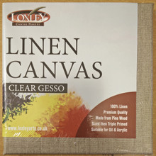 """Loxley Linen Stretched Canvas Clear Primed - 16"""" x 12"""" (Pack of 5)"""