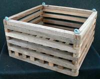 "Wood Vanda Baskets (square) 8"""