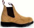 USBBA Redback Suede Leather Elastic Side Steel cap Safety Boot